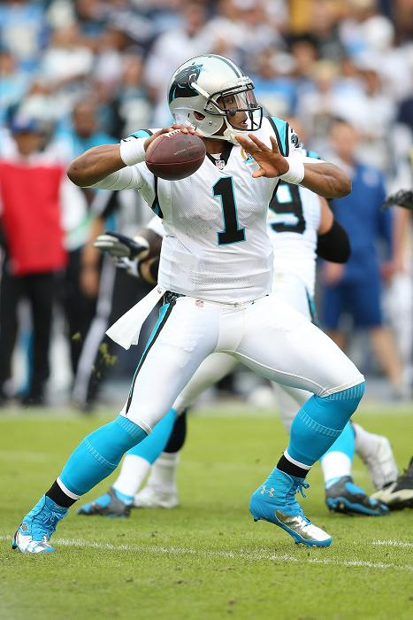 Carolina quarterback Cam Newton stood tall against the Seattle Seahawks. Photo by Mike Zito/News4usonline.com