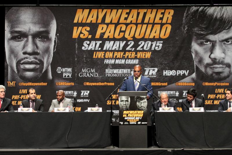 Floyd MayweatherJr.  vs. Manny Pacquiao