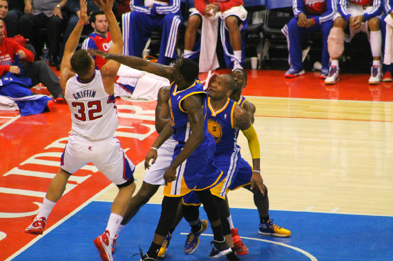 Blake Griffin dominated but the Clippers still came up short against the Golden State Warriors in a 110-106 defeat on Tuesday, March 31, 2015 at Staples Center. Photo Credit: Dennis J. Freeman/News4usonline.com