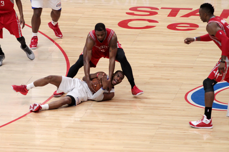 Chris Paul and Clippers left calling for help. Now Game 7 is necessary. Photo by Jevone Moore
