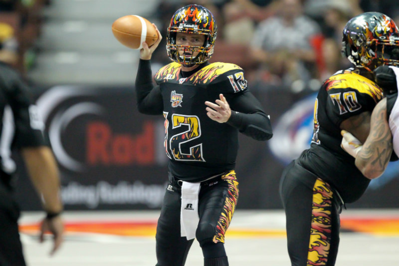 LA KISS quarterback Danny Southwick lead LA KISS its first win of the season against the Las Vegas Outlaws. Photo by Jordon Kelly