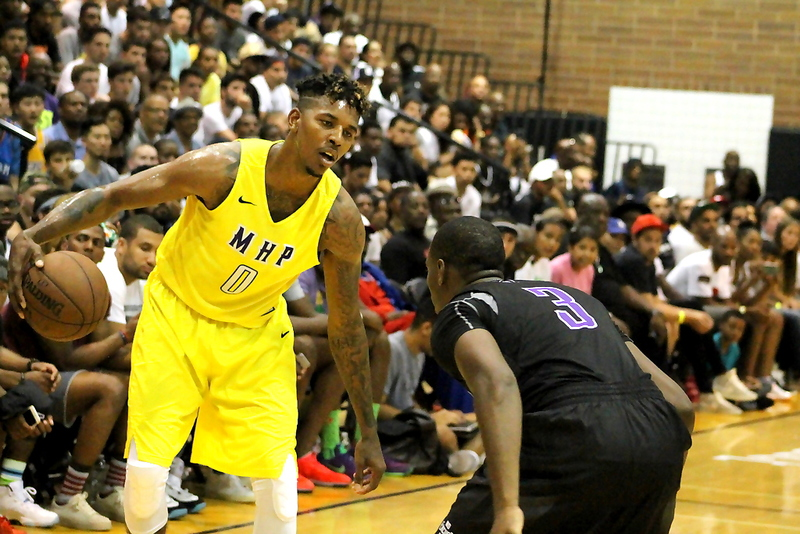 Nick Young and his Most Hated Players (M.H.P.) squad fell short in the title game to LAUNFD. Photo by Dennis J. Freeman