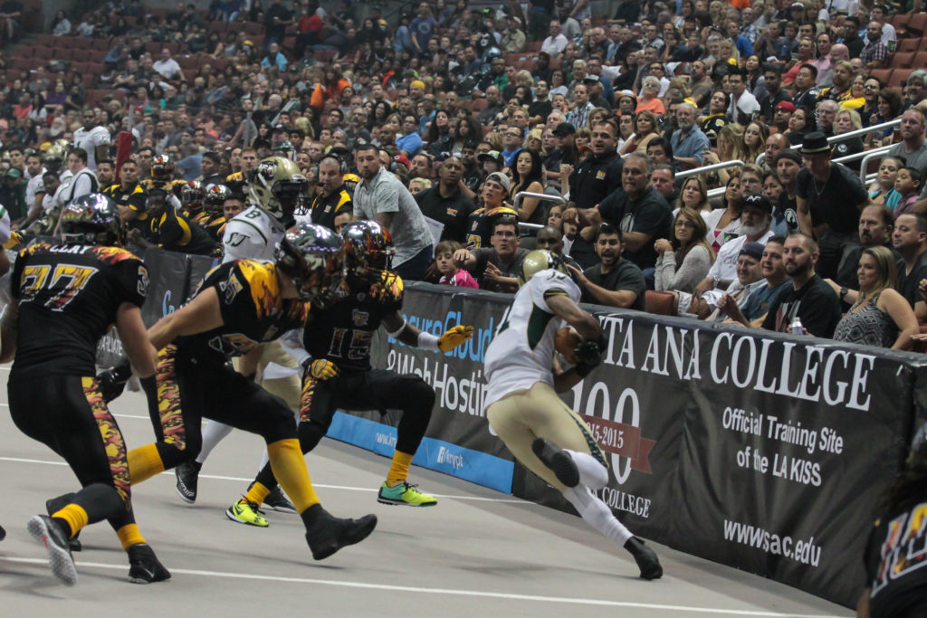 LA Kiss Defensive Swarming to ball. Photo by Jevone Moore
