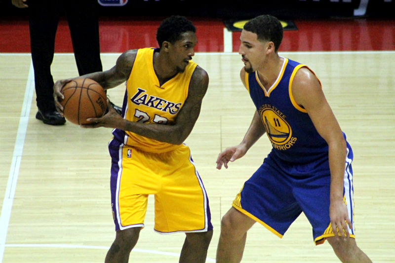 Klay Thompson and the Golden State Warriors are looking to repeat as NBA champs. Photo by Dennis J. Freeman/News4usonline.com