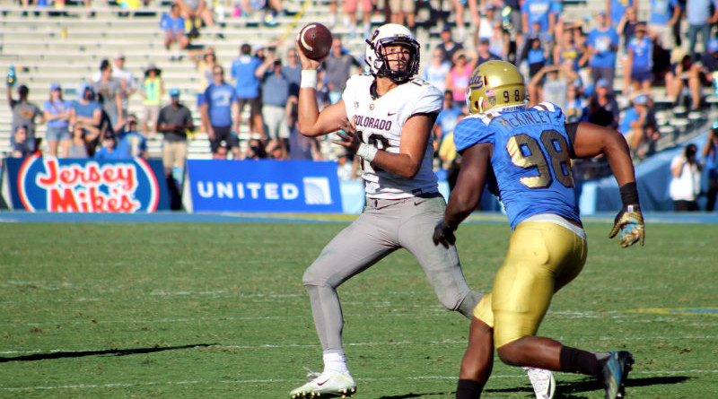 Closing the deal: The UCLA Bruins got enough defense to close out Colorado with a 35-31 Pac-12 win at the Rose Bowl on Saturday, Oct. 31, 2015. Photo by Dennis J. Freeman/News4usonline.com