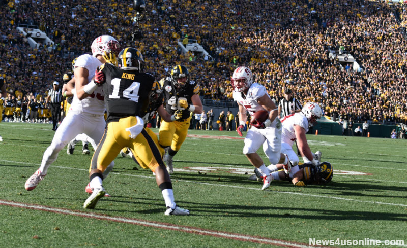 Christian McCaffrey ran for 172 yards against Iowa in the 2016 Rose Bowl Game presented by Northwestern Mutual. Photo by Dennis J. Freeman/News4usonline.com
