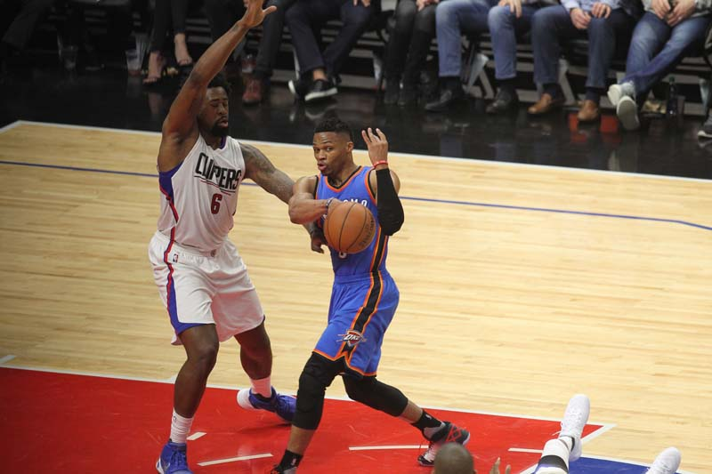Russell Westbrook and the Oklahoma City Thunder have appeared in the NBA's Western Conference Finals for the fourth time in six years. Photo Credit: Kevin Reece/News4usonline.com