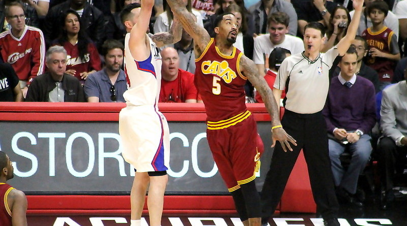 "Cleveland Cavaliers guard J. R. Smith helped shut down the ""Splash Brothers"" during this season's NBA Finals. Photo by Dennis J. Freeman/News4usonline.com"