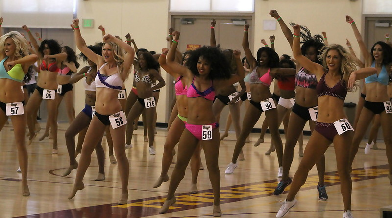 More than 400 women gave it their all at the LA Rams cheer and dance audition.