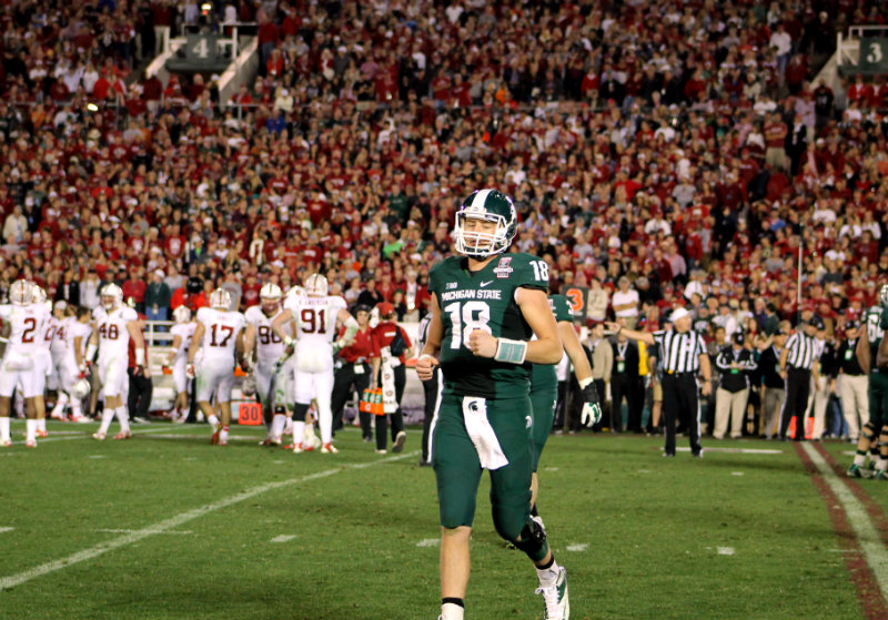Former Michigan State quarterback Connor Coook was picked in the fifth round of the 2016 NFL Draft by the Oakland Raiders. Photo by Dennis J. Freeman/News4usonline.com