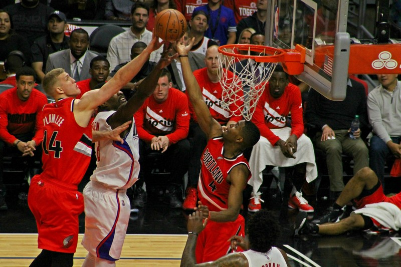The Clippers had a difficult time reaching the basket against the Trailblazers. Photo by Dennis J. Freeman/News4usonline.com