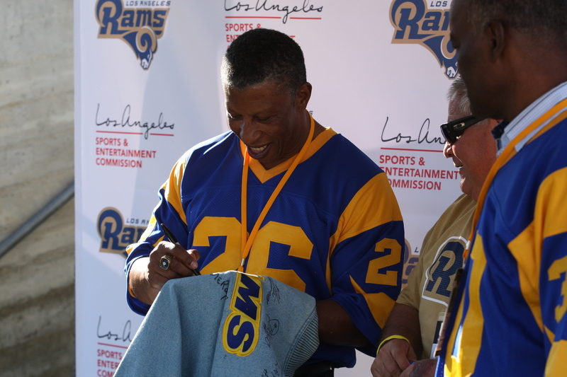 Former Rams running back Wendell Tyler. Photo by Astrud Reed/News4usonline