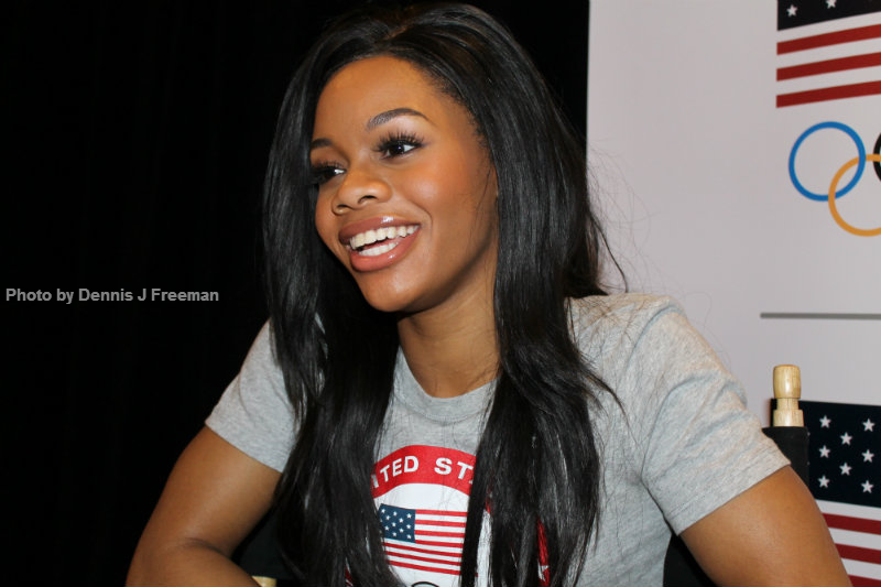 Gabby Douglas is the first African American woman to win an individual gold medal during the Olympics (2012). Photo by Dennis J. Freeman/News4usonline.com