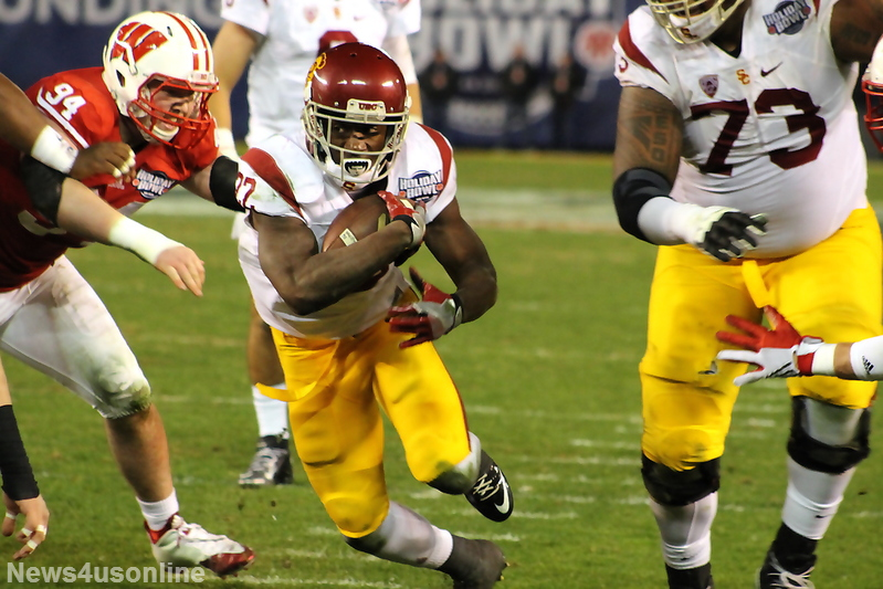 USC running back Justin Davis (22) is looking to have a big senior season. Photo by Dennis J. Freeman/News4usonline