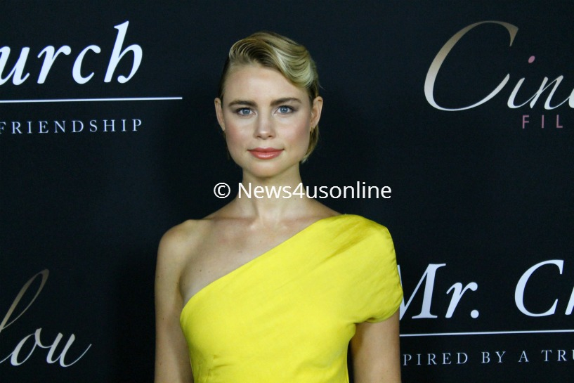 "Actress Lucy Fry, seen here on the red carpet, is one of the co-stars in ""Mr. Church."" Photo by Dennis J. Freeman/News4usonline"
