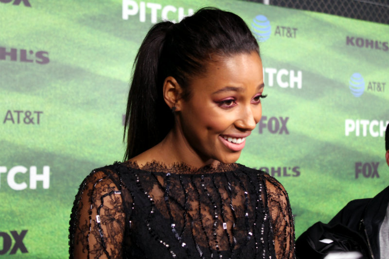 "Actress Kylie Bunbury at the Los Angeles premiere of ""Pitch."" Photo by Dennis J. Freeman"