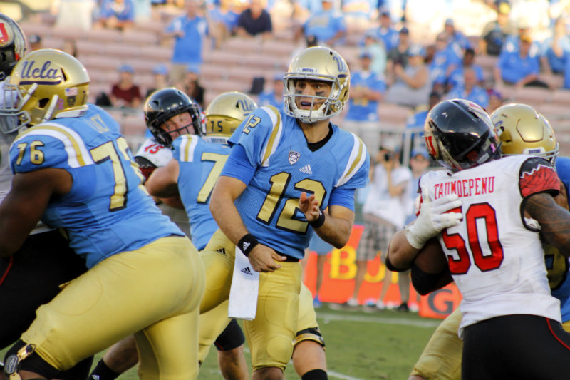 UCLA backup quarterback Mike Fafaul threw for 364 yards against Utah. Photo by Dennis J. Freeman,News4usonline.com