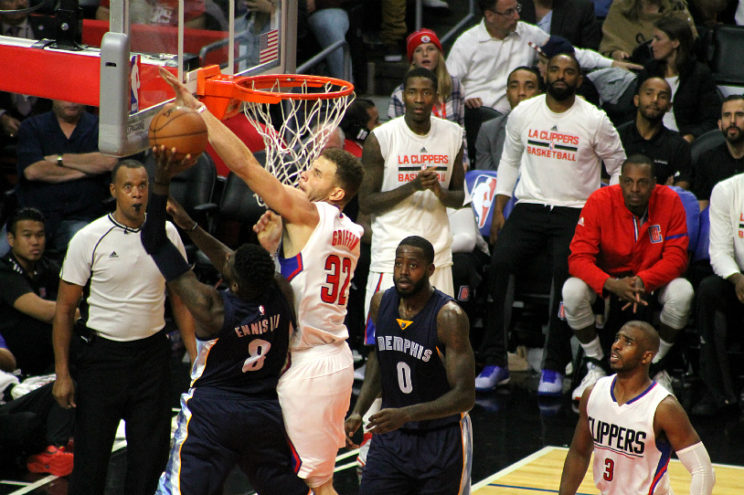 Blake Griffin make a defensive house call on the Memphis Grizzlies with this block shot. Photo by Dennis J. Freeman/News4usonline.com