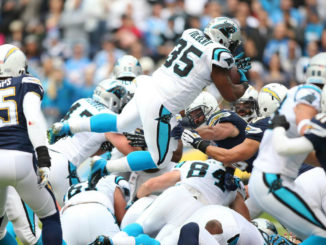 Running back Mike Tolbert (35) and the rest of the Carolina Panthers are having a tough year in 2016. Photo by Mike Zito/News4usonline.com