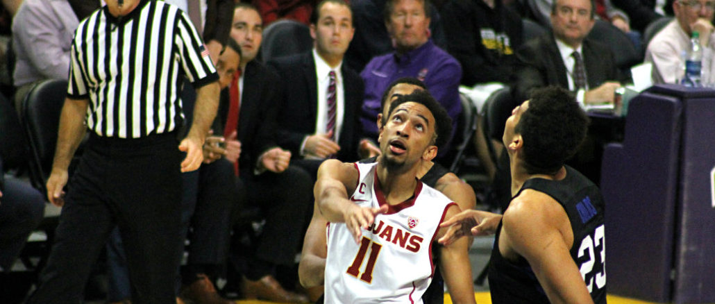 The USC Trojans men's basketball team remain undefeated after defeating the BYU Cougars. Photo by Dennis J. Freeman/News4usonline.com