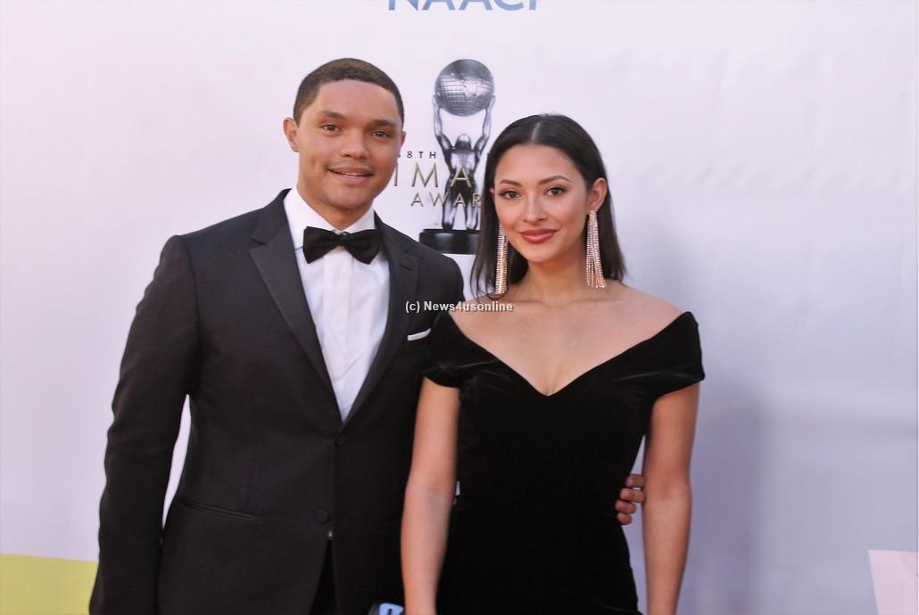 Comedian Trevor Noah at the 48th Annual NAACP Image Awards on Saturday, Feb. 11, 2017. Photo by Dennis J. Freeman/News4usonline