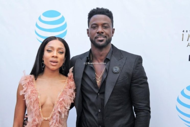 Lil Mama and actor Lance Gross (Hit a Lick) make time to get their photo snapped. Photo by Dennis J. Freeman/News4usonline