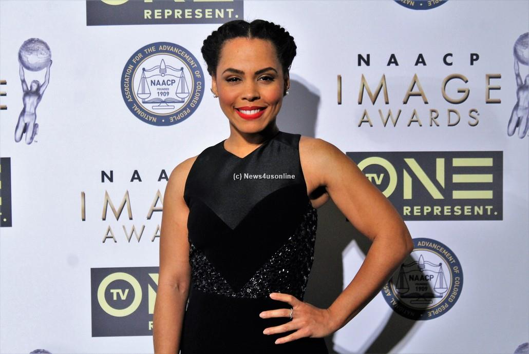 """Underground"" star Amirah Vann is fabulous at the 48th Annual NAACP Image Awards on Friday, Feb. 10, 2017. Photo by Dennis J. Freeman/News4usonline"
