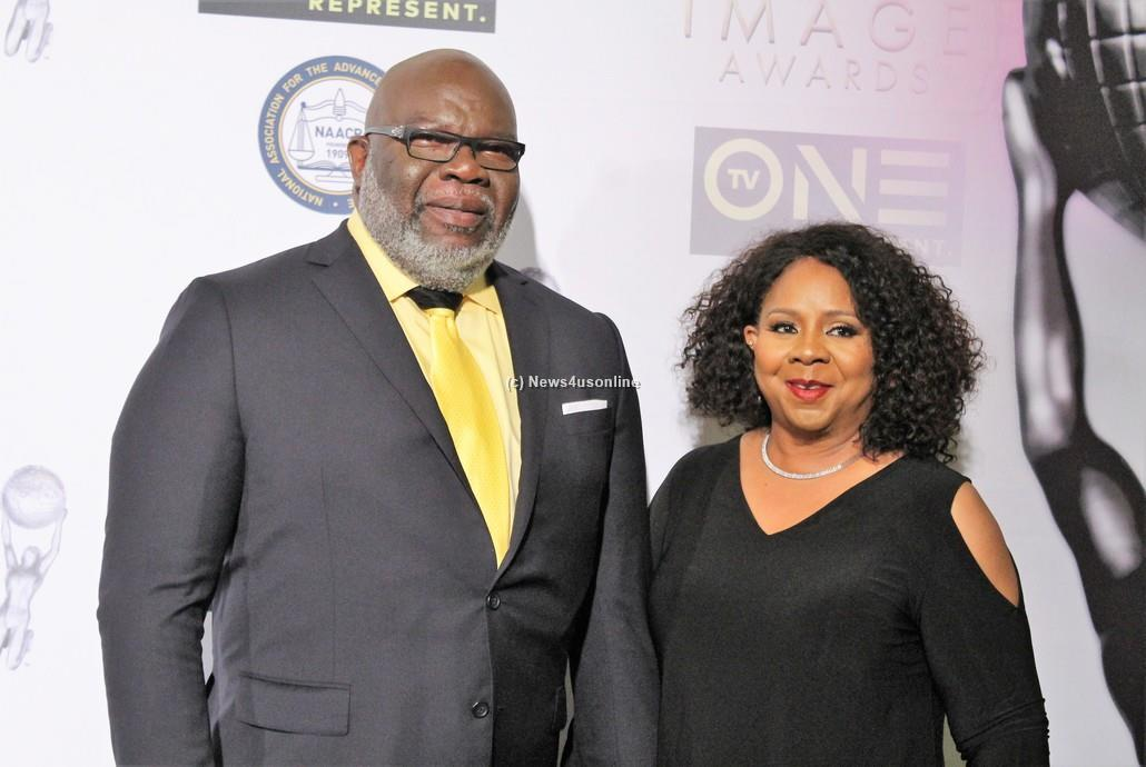 World renowned minister Bishop T.D. Jakes and his wife, Serita Jakes, attend the 48th Annual NAACP Image Awards on Friday, Feb. 10, 2017. Photo by Dennis J. Freeman/News4usonline