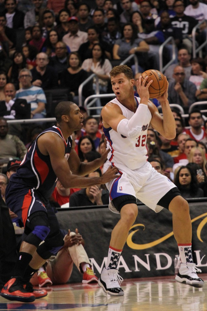 Blake Griffin, shown here against the Atlanta Hawks, scored 18 points to lead the Clippers to their 11 straight win. Photo Credit: Gary George Jr.