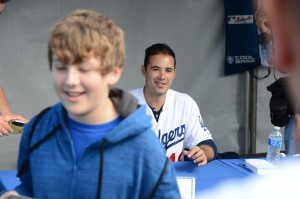 Andre Ethier attends the Los Angeles Dodgers FanFest. Photography by Jon SooHoo/©Los Angeles Dodgers,LLC 2013.