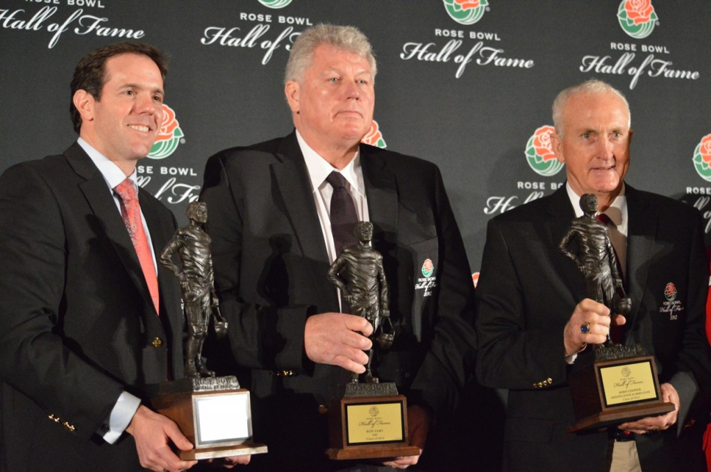 Brian Griese, Ron Yary and John Cooper are the 2012 Rose Bowl Hall of Fame inductees. Photo Credit: Ronald Jenkins