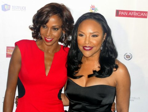 Holly Robinson Peete and  Lynn Whitfield on the red carpet. Photo Credit: Dennis J. Freeman