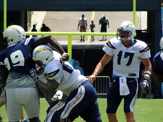 Philip Rivers has one of the best offensive line in the NFL. Photo Credit: Dennis J. Freeman/News4usonline.com