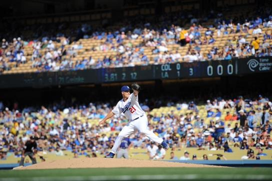 Zach Greinke and the Los Angeles Dodgers are rolling these days. Photo Credit: Juan Ocampo/Los Angeles Dodgers