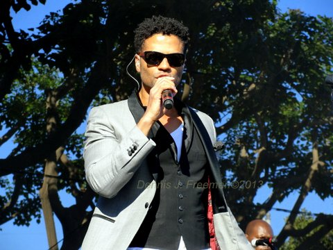 R&B crooner Eric Benet put it down for the women attending the 2013 Long Beach Jazz Festival. Photo Credit: Dennis J. Freeman