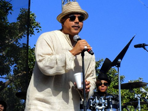 R&B singer Howard Hewett hits the stage at the Long Beach Jazz Festival. Photo Credit: Dennis J. Freeman