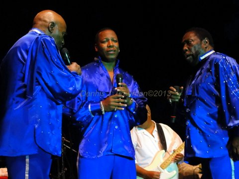 Members of the O'Jays light up the Long Beach Jazz Festival. Photo Credit: Dennis J. Freeman