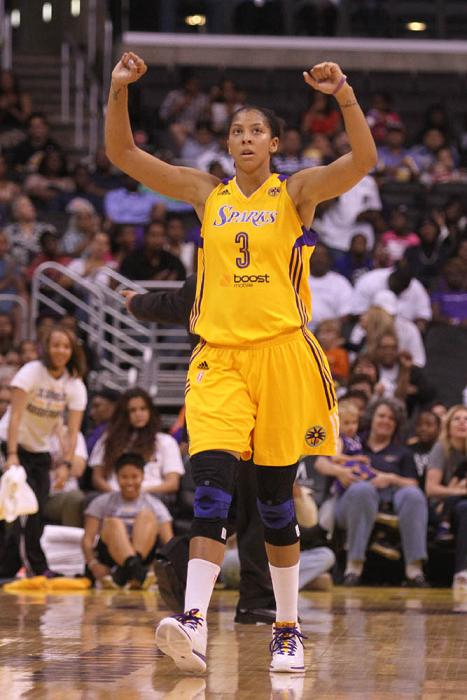 Candace Parker #3 of the Sparks during the game. The Los Angeles Sparks defeated the Tulsa Shock by the final score of 90-88 in 2 overtimes at Staples Staples Center in downtown Los Angeles CA. Kevin Reece/news4usonline.com