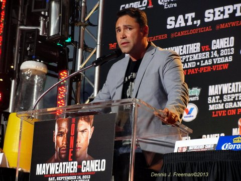 Oscar De La Hoya is in the fight for his life as he checked back into substance abuse rehab. Photo Credit: Dennis J. Freeman