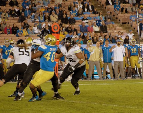 UCLA got defensive in the second half against Colorado, holding the Buffaloes to just 10 points. Photo Credit: Dennis J. Freeman/News4usonline.com