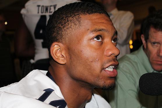 Auburn quarterback Nick Marshall hopes to pull off the upset. Photo Credit: Dennis J. Freeman/News4usonline.com