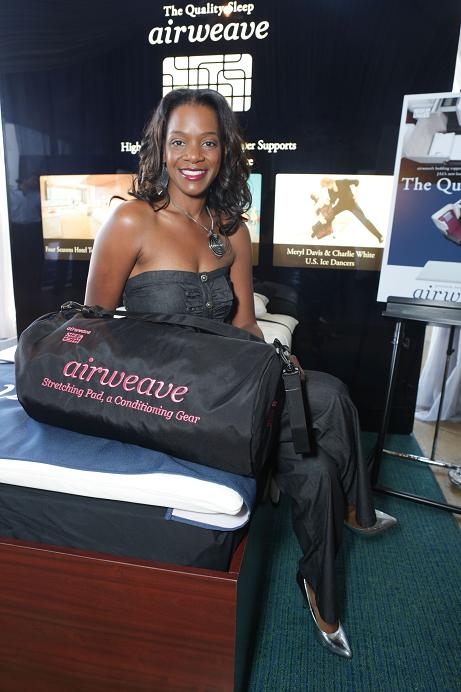 Actress Kelsey Scott (12 Years A Slave) gets comfortable with airweave bedding. GBK Productions