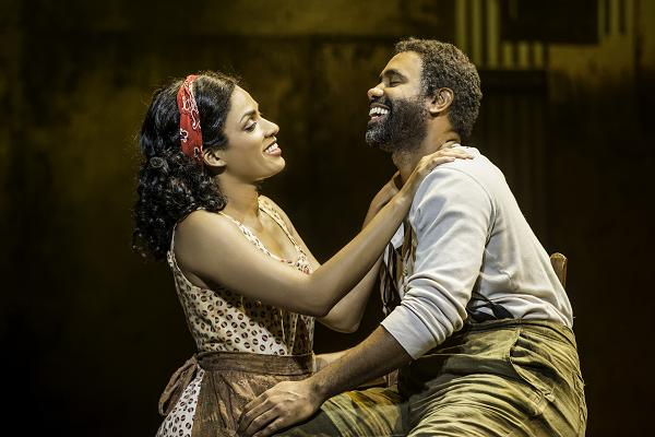 """Alicia Hall Moran and Nathaniel Stampley in """"The Gershwins' Porgy and Bess"""" by George Gershwin, DuBose and Dorothy Heyward, and Ira Gershwin. Photo by Michael J. Lutch"""