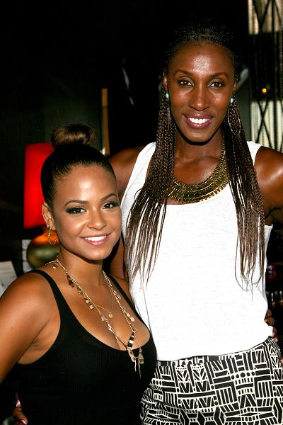 Actress Christina Milian (L) and Basketball player Lisa Leslie attend the GBK Luxury Sports Lounge, prior to the ESPY Awards held at W Hollywood on July 15, 2014 in Hollywood, California. (Photo by Tommaso Boddi/Getty Images for GBK Productions)