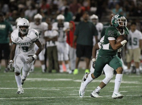 Dorsey Running Back Ramon Lewis Glides to 13 yard touchdown. Photo by Jevone Moore /News4usonline.com /Courtesy of Full Image 360