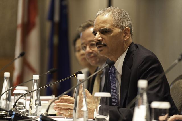 Attorney General Holder speaks during a meeting of Attorneys General at the 5th Annual Quintet Meeting in Auckland, New Zealand in 2013. Photo Credit: U.S. Embassy in New Zealand