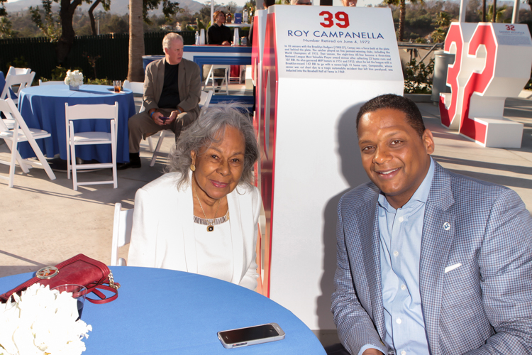Los Angeles Dodger great Jackie Robinson's wife Rachel Robinson. Photo by Jevone Moore