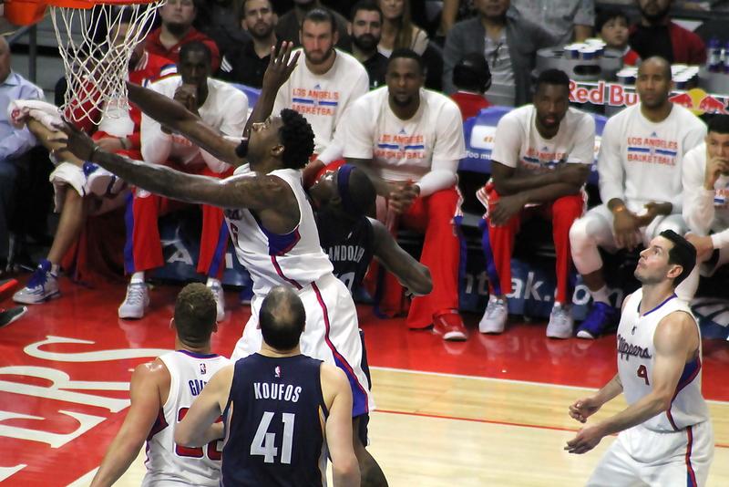 DeAndre Jordan was a pogo stick all night against the Memphis Grizzlies. Photo Credit: Dennis J. Freeman/News4usonline.com