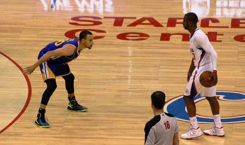 Steph Curry or Chris Paul? The debate of who is the best point guard in the NBA rages. Photo Credit: Dennis J. Freeman/News4usonline.com