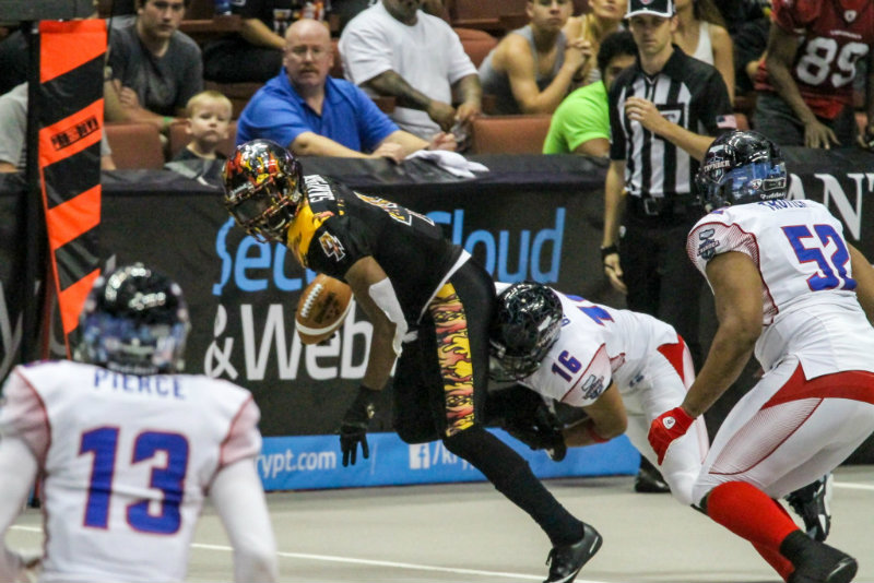 The LA KISS came away with their first win of the season,defeating the Portland Thunder by the score of 52-40 Photo by Jevone Moore